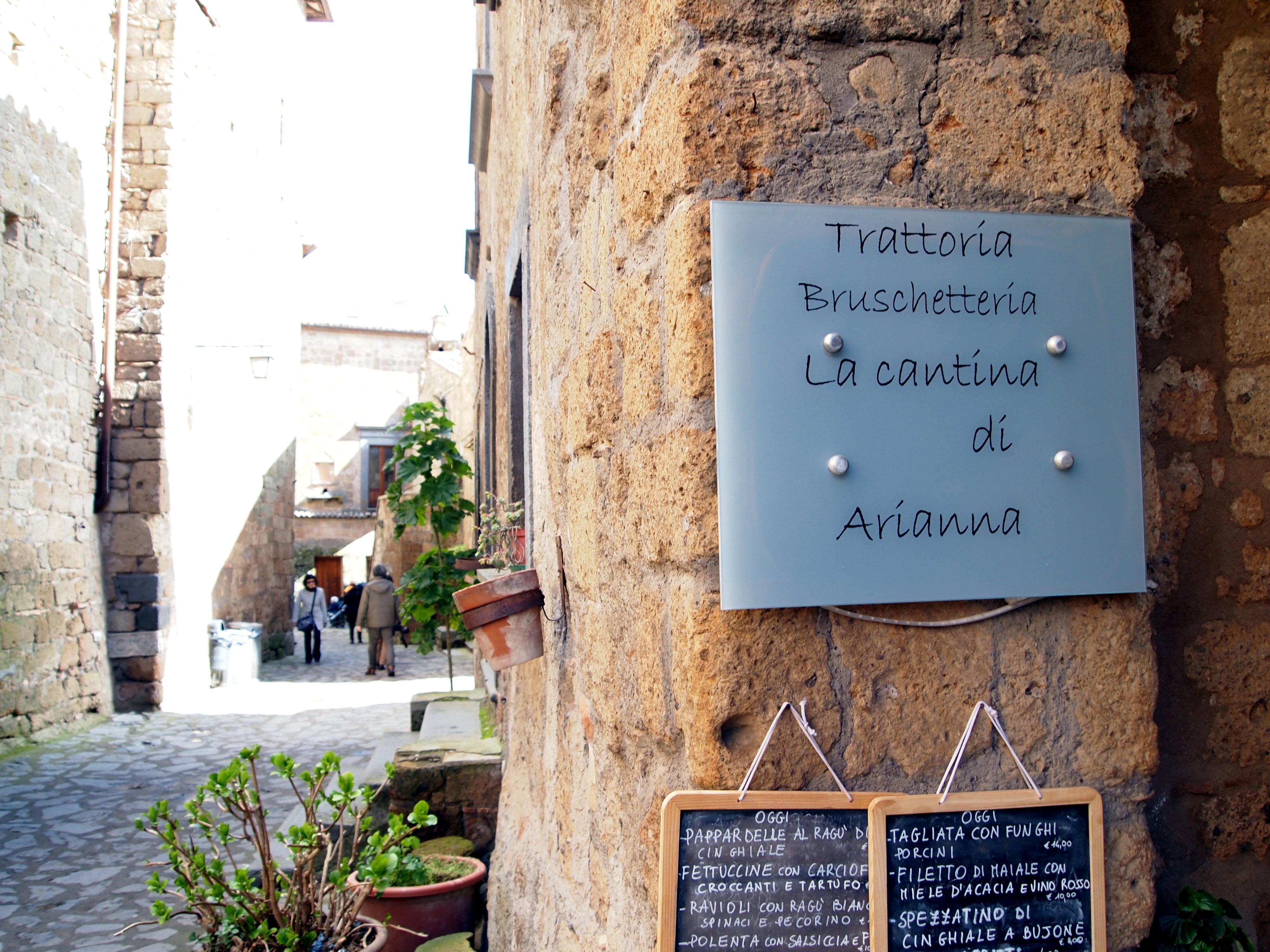 La Cantina di Arianna Civita di Bagnoregio restaurant Italy