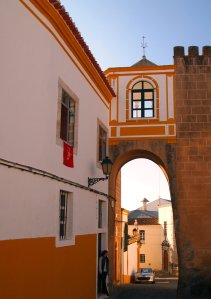 yellow and white elvas portugal summery