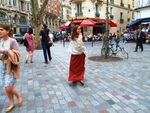 walking to holiday inn rooftop bar paris summery blog