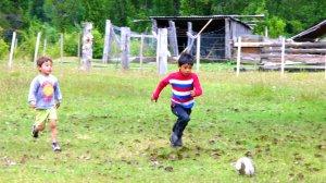boys playing soccer futbol argentina patagonia summery blog