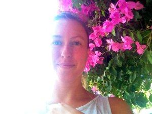 travel blogger bougainvilleas crete greece
